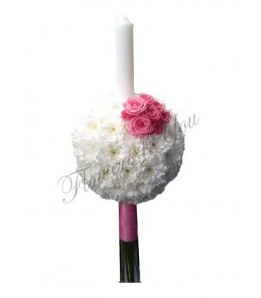 Lumanari nunta ieftine crizantema.