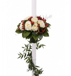 Lumanare nunta trandafiri