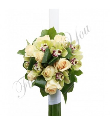 Lumanari nunta orhidee trandafiri