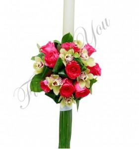 Lumanari nunta orhidee