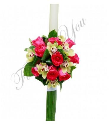 Lumanari nunta ieftine orhidee