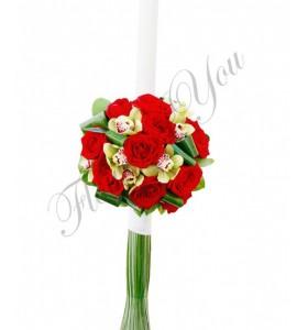 Lumanari nunta trandafiri grena