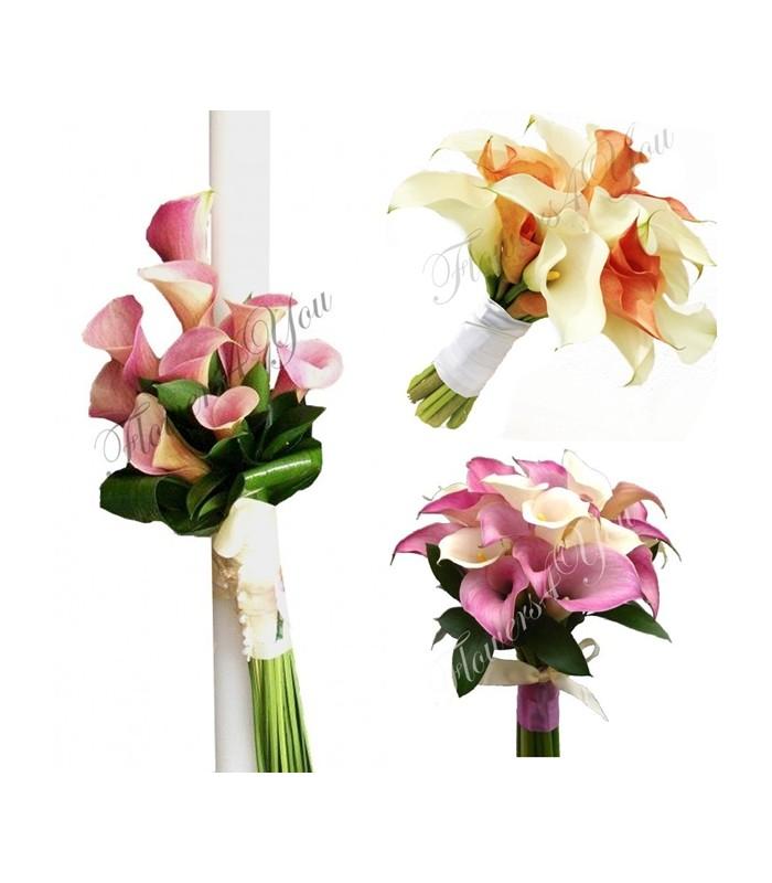 Pachet Lumanari Buchete Cale Flowers4you