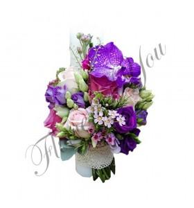 Lumanari nunta scurte lisiantus trandafiri