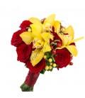 Buchete de mireasa orhidee trandafiri