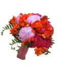 Buchete de mireasa bujori trandafiri