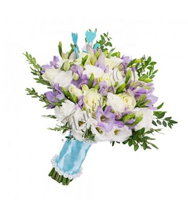 Buchete de mireasa freziiz lila