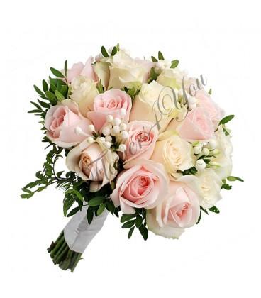 Buchete de mireasa trandafiri buvardia