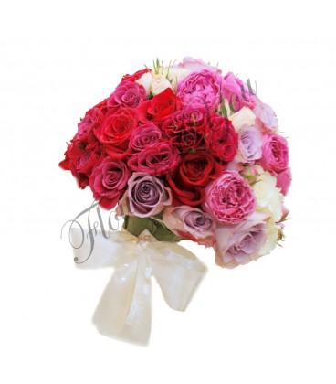 Buchete de mireasa trandafiri funda