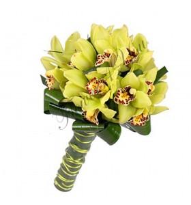 Buchete de mireasa orhidee verde
