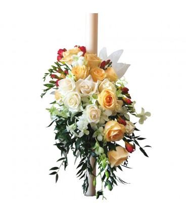 Lumanari nunta trandafiri frezii trandafiri dendrobium