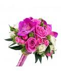 Buchete de mireasa trandafiri roz vanda