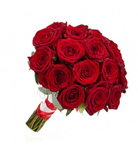 Buchete de mireasa trandafiri rosi grand prix