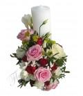 Lumanari nunta scurte frezii trandafiri