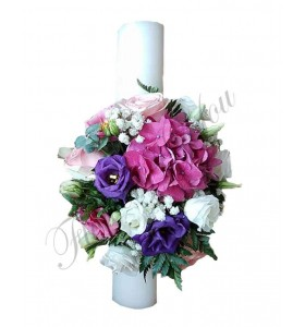 Lumanari nunta scurte hortensia lisiantus