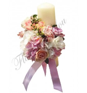 Lumanari nunta scurte hortensia trandafiri