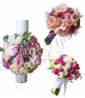 Pachete nunta lumanari si buchete trandafiri orhidee.
