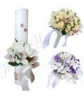 Pachete nunta lumanari buchete trandafiri si orhidee.
