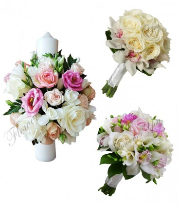 Pachete Nunta Lumanari Si Buchete Trandafiri Si Orhidee Frezii