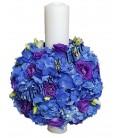 Pachet nunta lumanari si buchete trandafiri si orhidee frezii.