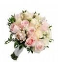 Pachete lumanari  buchete nunta trandafiri roz orhidee