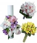 Pachet lumanari nunta ieftine orhidee verde