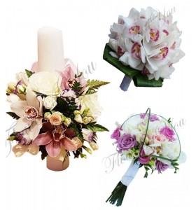 Pachet lumanari nunta ieftine orhidee