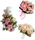 Pachet lumanari nunta ieftine trandafiri roz