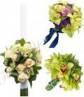 Pachete nunta orhidee verde