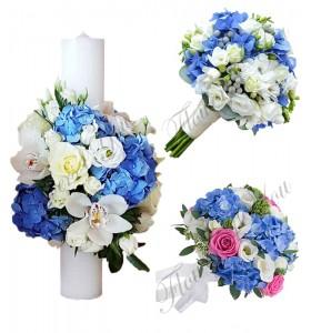 Buchete Mireasa Lumanari Nunta Scurte Lumanari Botez Flowers4you