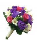 Pachete nunta lisiantus mov trandafiri
