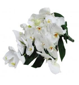 Buchet de mireasa curgator phalaenospis alb