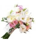 Buchete mireasa lisiantus alb mini trandafiri