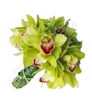 Buchete mireasa orhidee verde