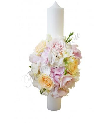 Lumanari nunta scurte hortesii trandafiri