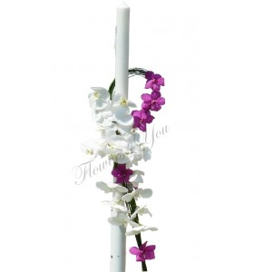 Lumanari nunta phalaenopsis alba vanda cyclam