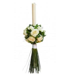 Lumanari nunta trandafiri santini verdeata belgrass