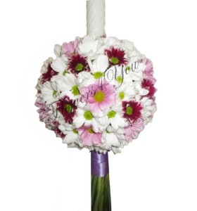 Lumanari nunta crizantema alba crizantema grena crizantema roz