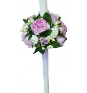 Lumanari nunta bujori frezii trandafiri