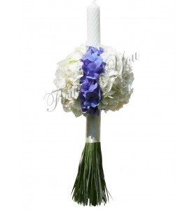 Lumanari nunta hortensia alba hortensia albastra