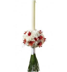 Lumanari nunta hortensia alba aranda