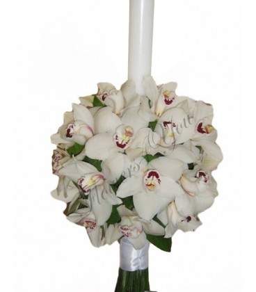 Lumanari nunta orhidee alba cymbidium