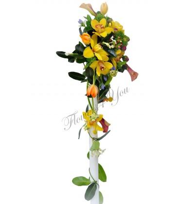 Lumanari nunta orhidee cale mango lalele hipericum