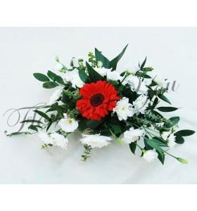 Aranjament flroral nunta gerbera crizantema lisiantus