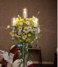 Aranjament floral nunta crizantema gerbera lalele lisiantus