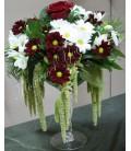 Aranjament floral nunta crizantema trandafiri