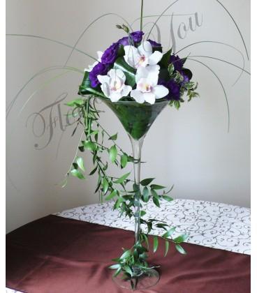 Aranjament floral nunta orhidee lisiantus