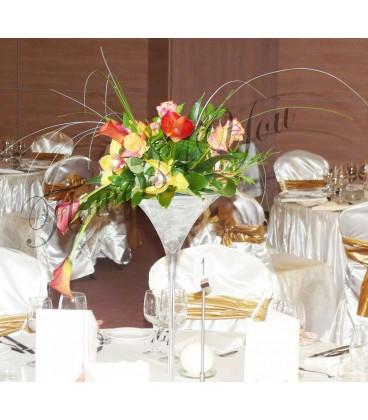 Aranjament floral nunta trandafiri cale orhidee