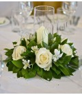 Aranjament floral nunta trandafiri dendrobium