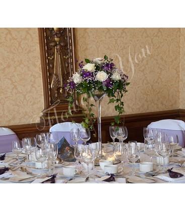 Aranjament floral nunta trandafiri iris hedera